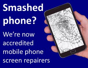 Smashed phone screens