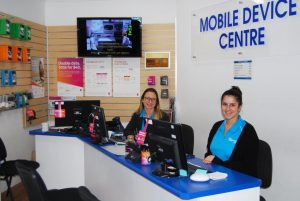 mobile phone device centre the office shop